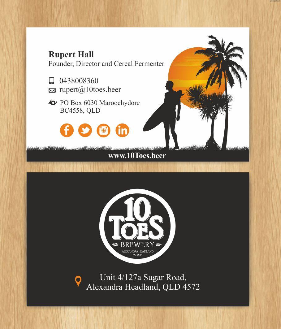Bold playful business business card design for ten toes brewery by bold playful business business card design for ten toes brewery in australia design 7701988 colourmoves