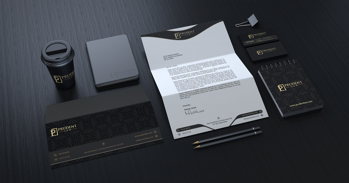 professional elegant legal stationery design for a company by