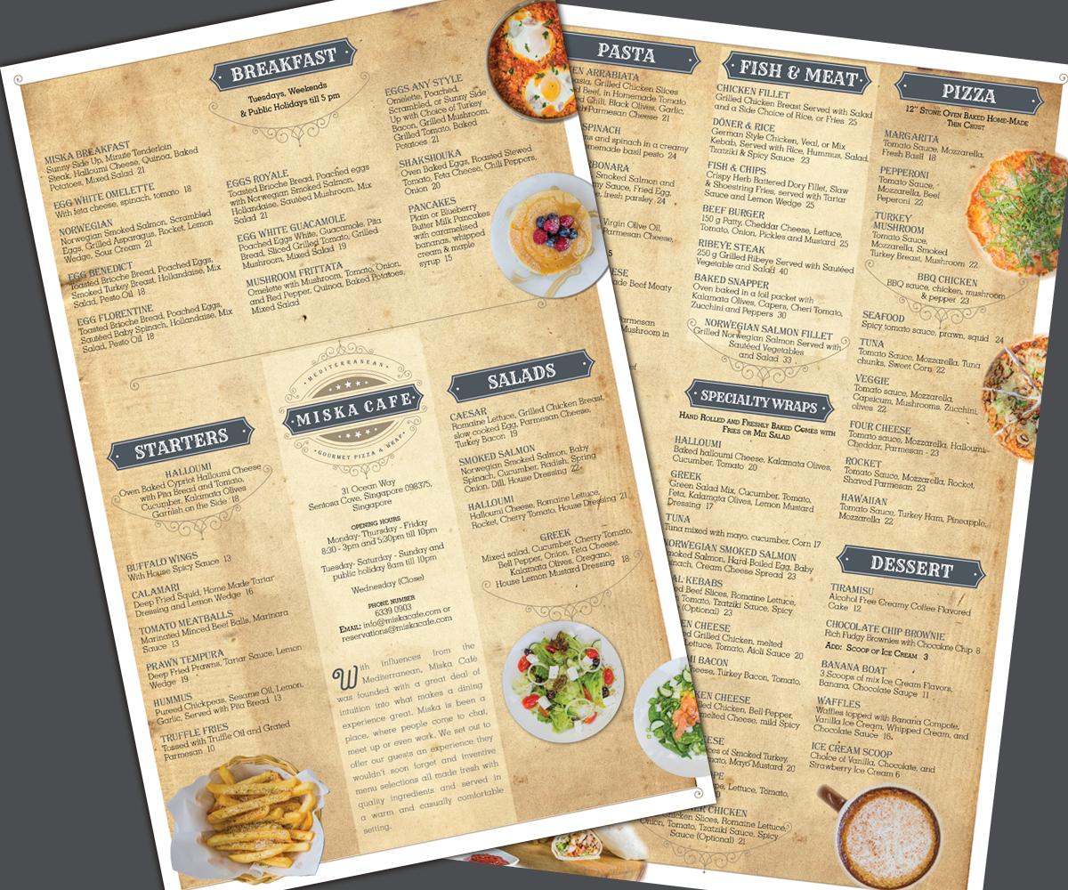 elegant, modern, restaurant menu design for ga by