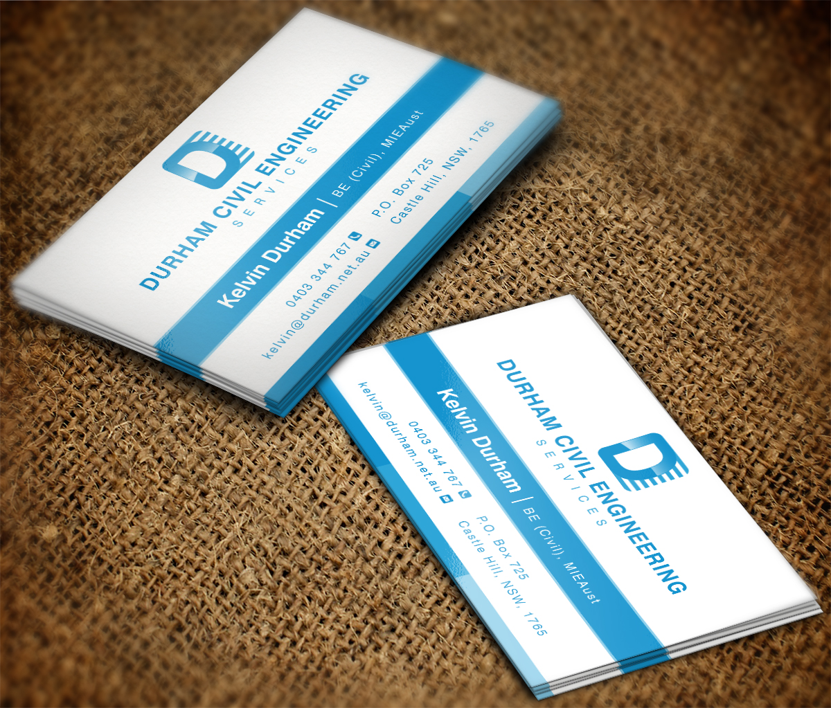 Professional, Bold Business Card Design for Durham Civil Engineering ...