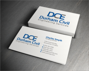 Professional bold business card design for durham civil engineering more business card entries from this contest reheart Gallery