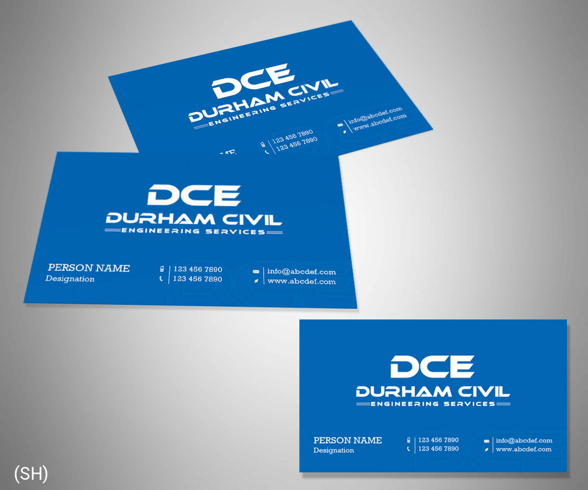 Professional bold construction business card design for durham business card design by esolbiz for durham civil engineering services design 7698646 reheart Choice Image
