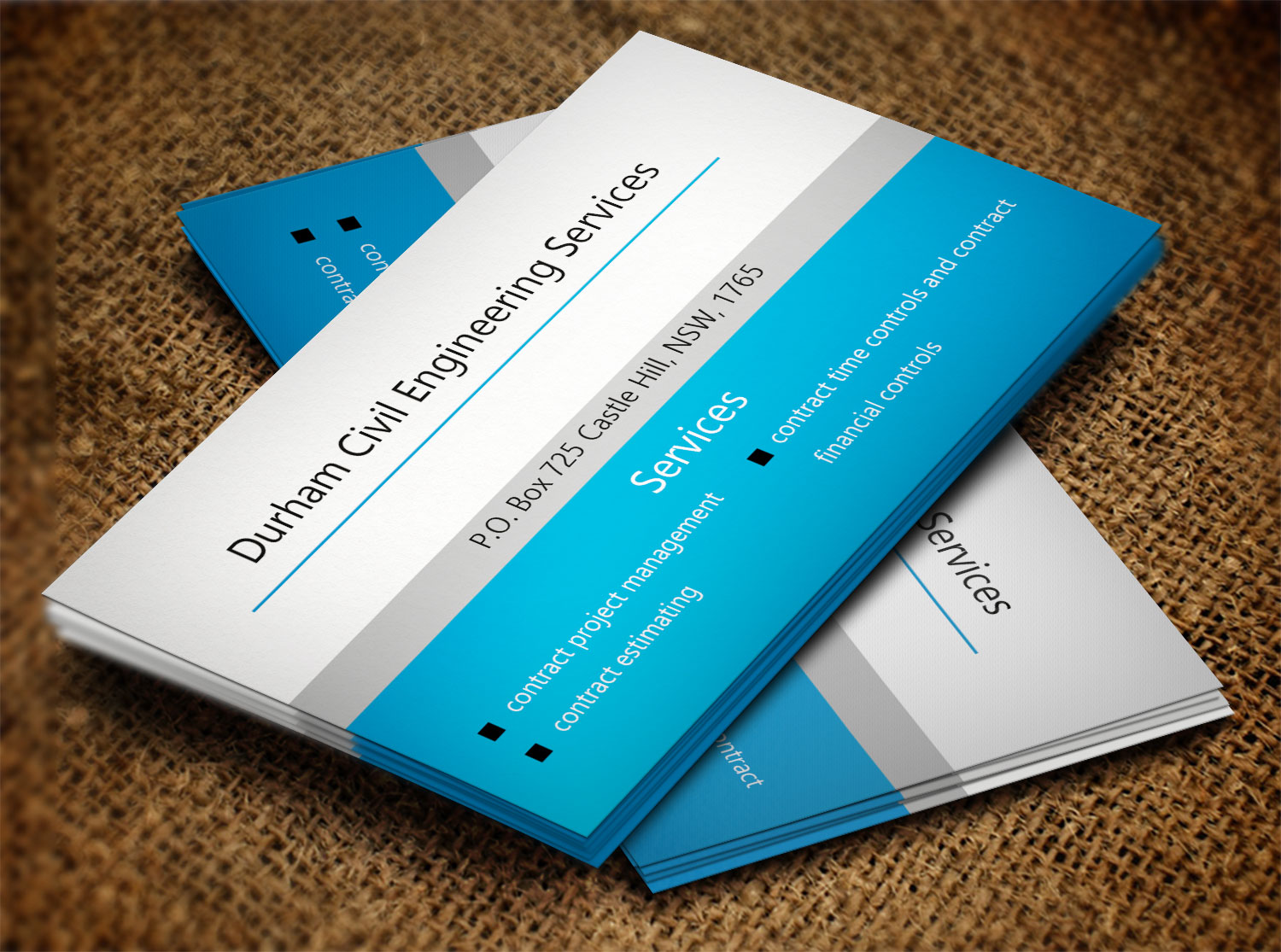professional bold construction business card design for