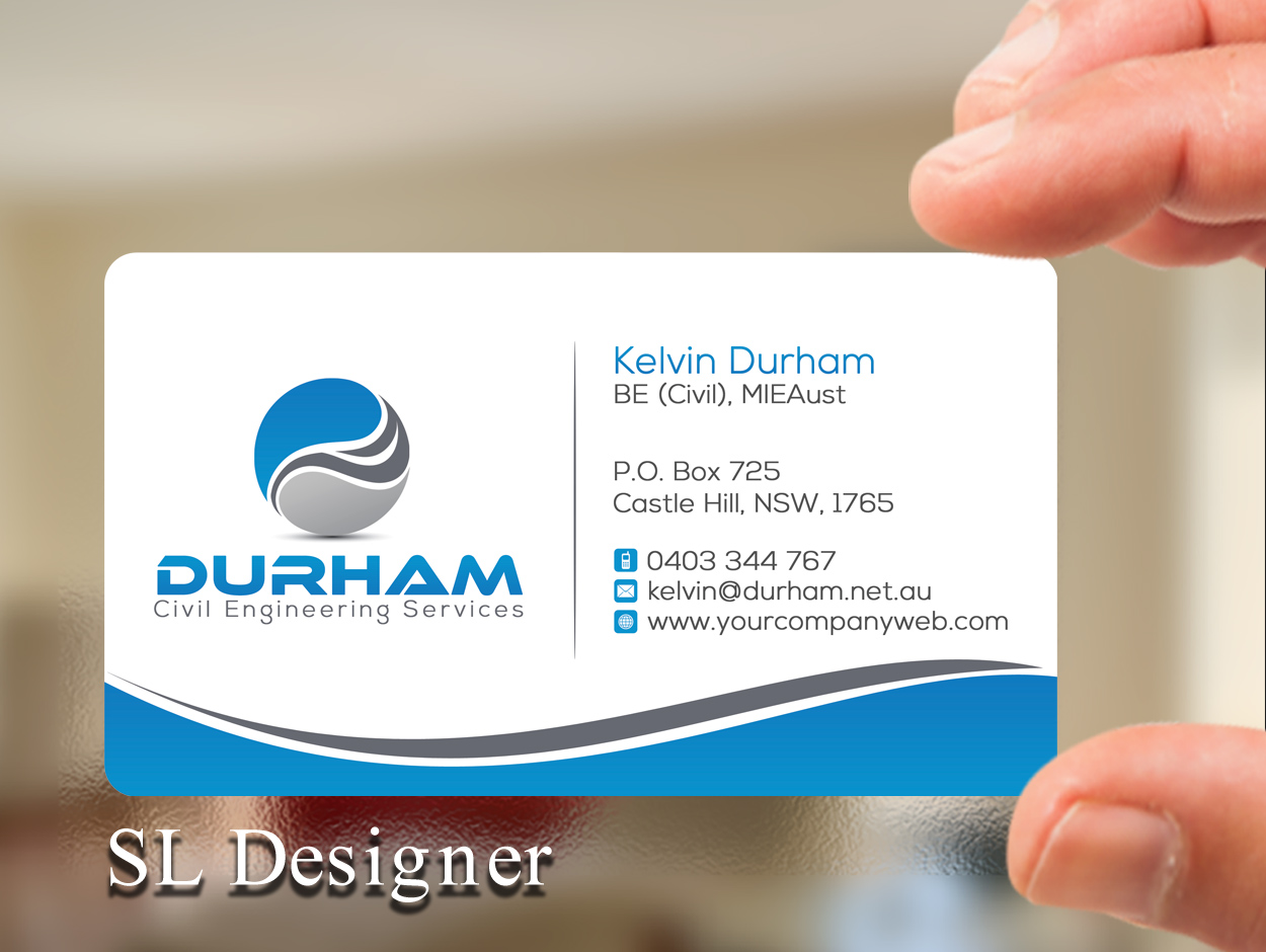 Business Card Design By Sl Designer For Durham Civil Engineering Services 7762910