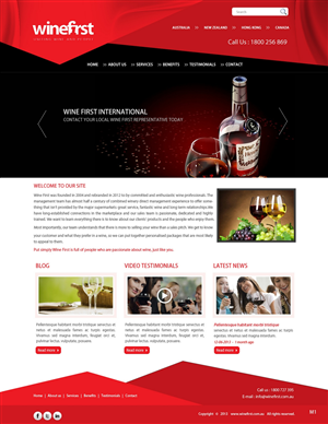 Web Design by pb - Redesign Company Website