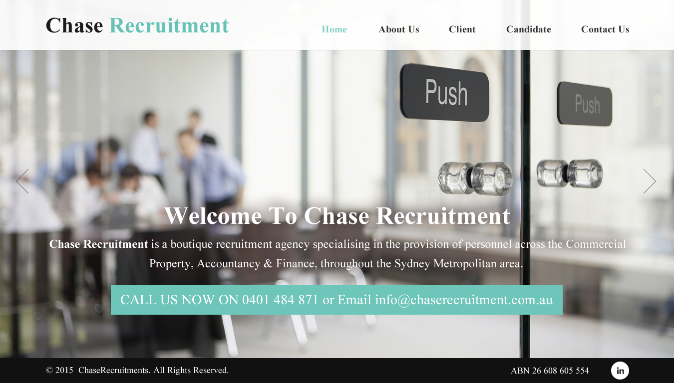 Professional serious boutique web design for chase for Design recruitment agencies