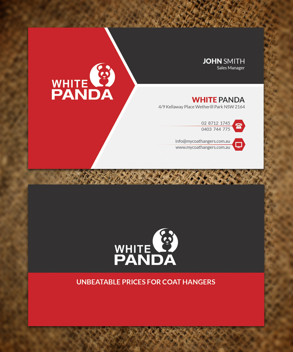 Elegant, Playful, Business Business Card Design for WHITE PANDA PTY ...
