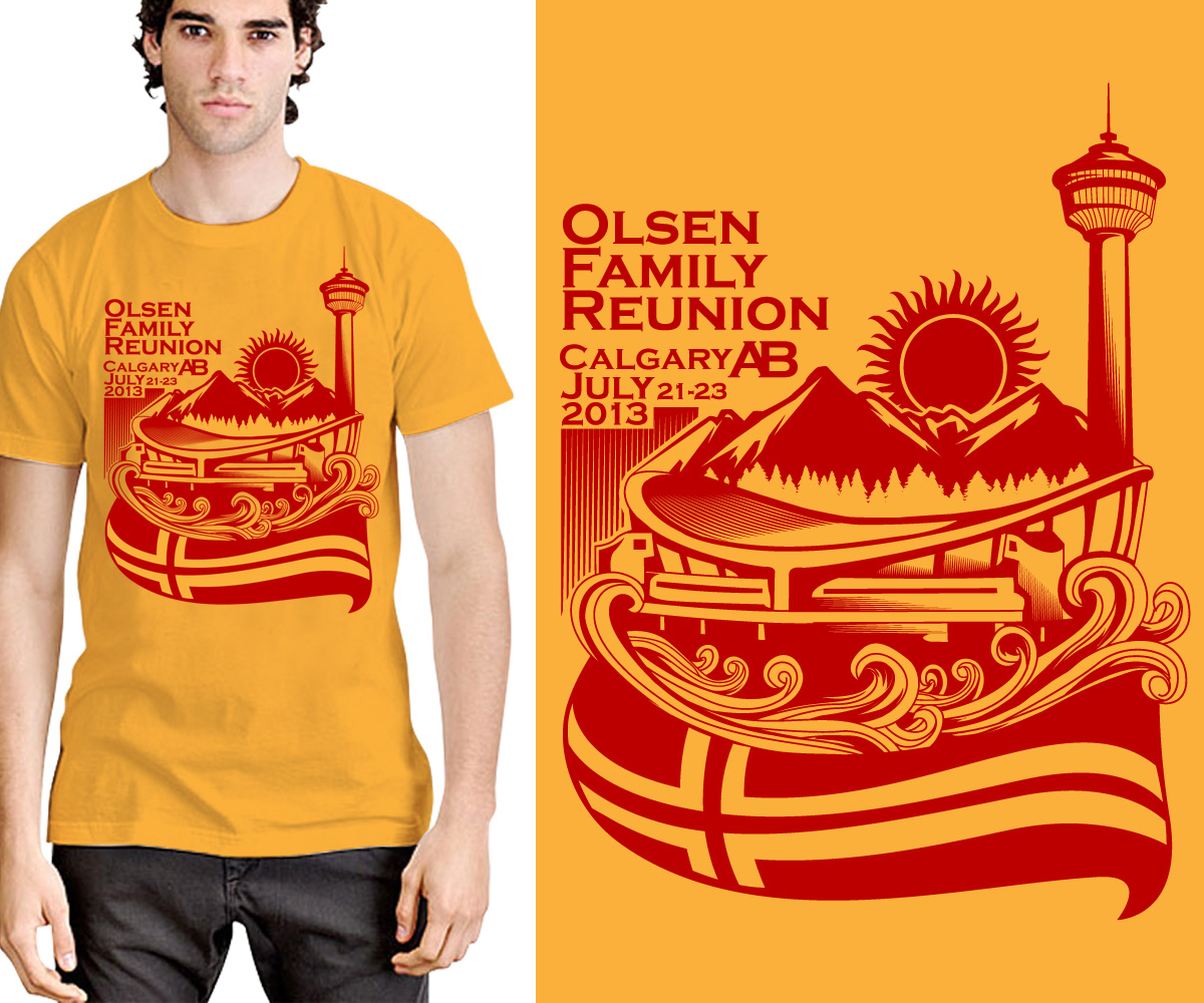 Design tshirt reunion - T Shirt Design By Freedomdrawing For T Shirt Design Project For Family Reunion