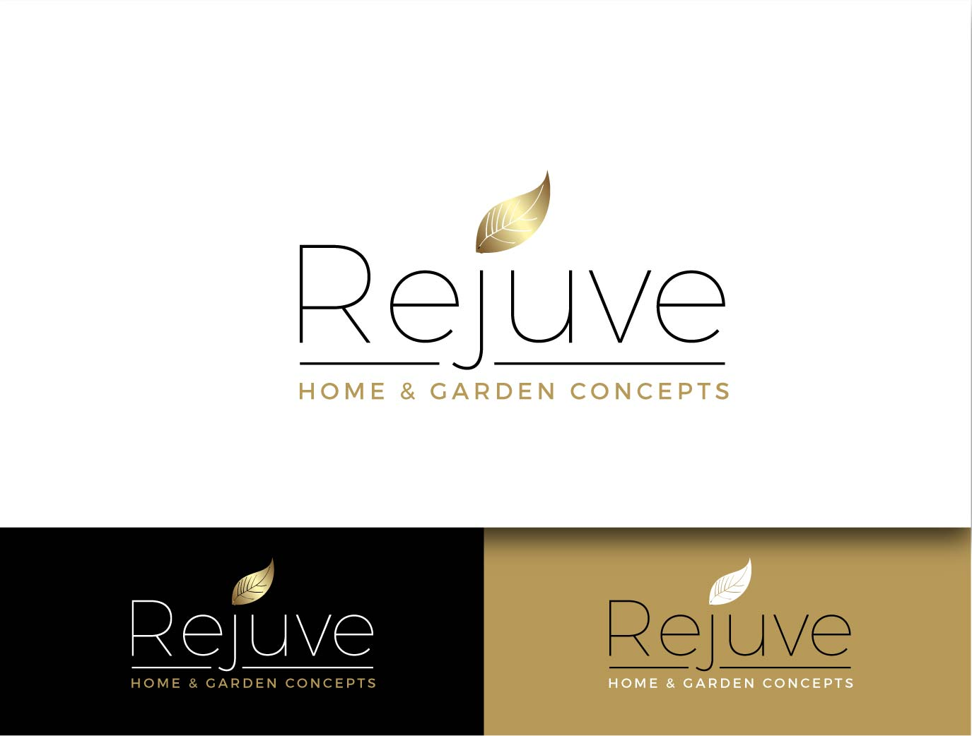 Rejuve Home and Garden logo by wonderland
