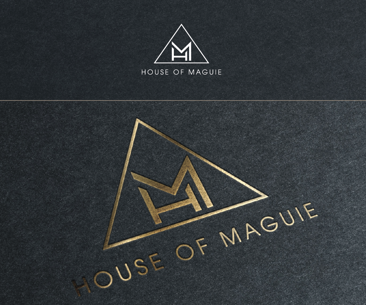 bold modern fashion logo design for house of maguie by