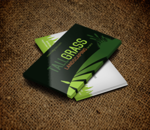 73 Bold Colorful Landscape Business Card Designs for Tallgrass