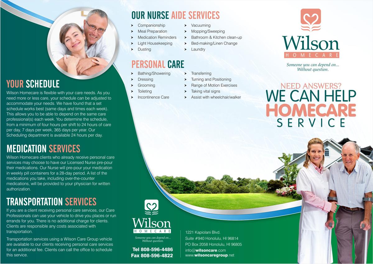 serious upmarket brochure design design for wilson care group a