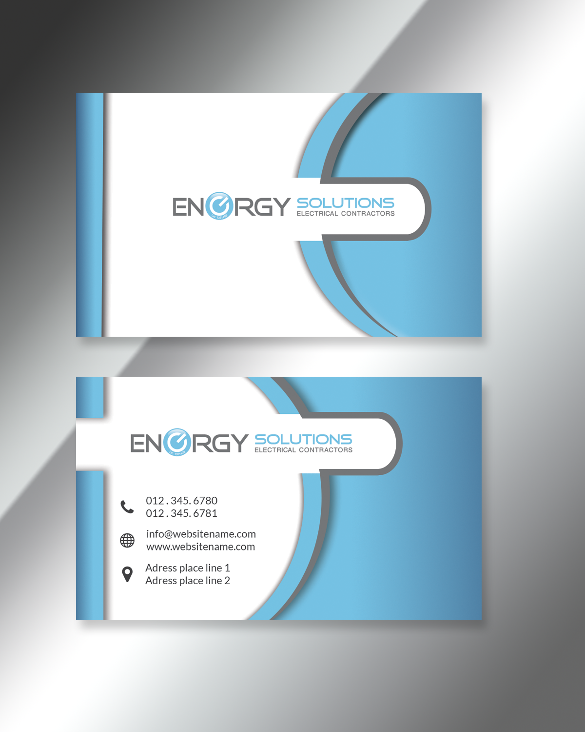Elegant playful business business card design for energy solutions business card design by nelledj for energy solutions electrical design 7725299 colourmoves