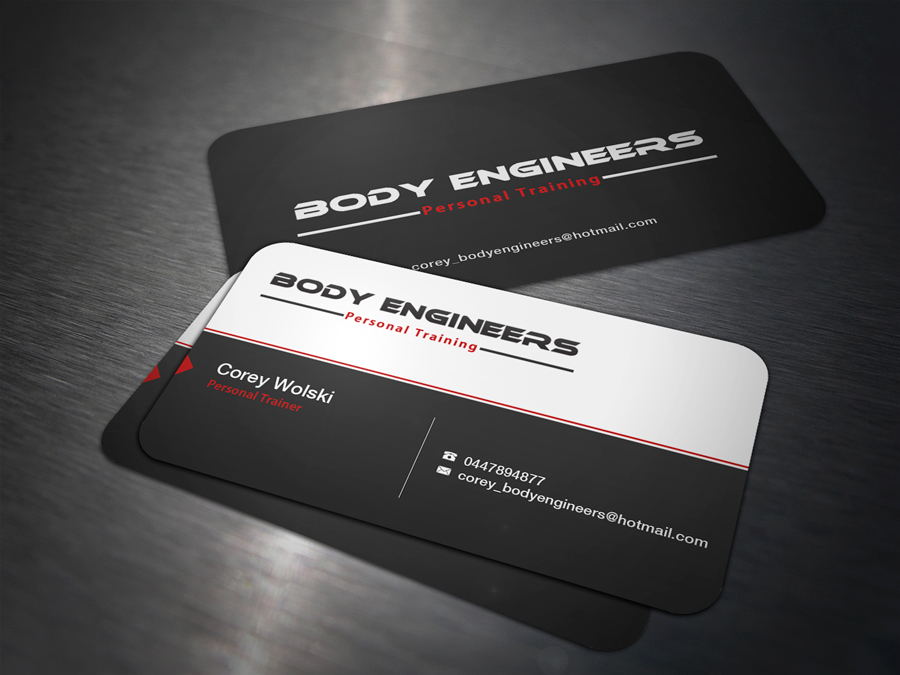 15 professional business card designs personal trainer business business card design by charlisign for this project design 1914808 reheart Images