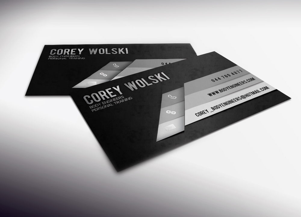 Professional, Bold, Personal Trainer Business Card Design for a ...