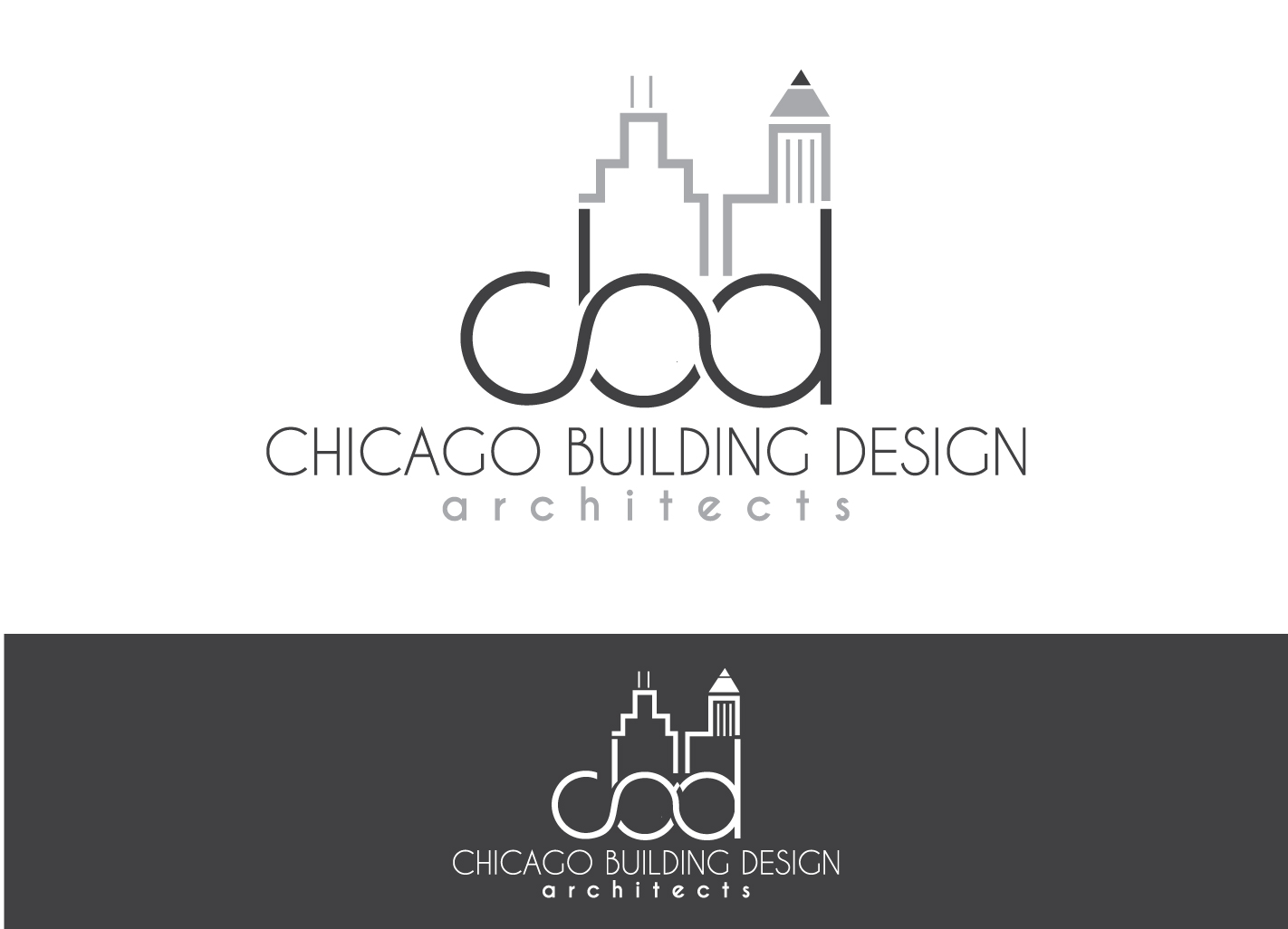 serious modern architecture logo design for cbd