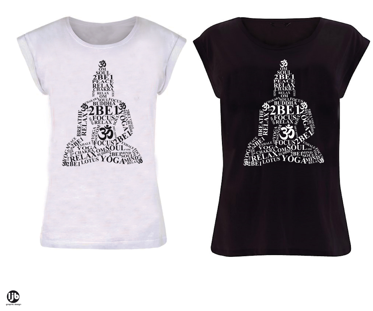 Playful modern t shirt design for 2be1 yoga by lisa for Modern t shirt designs