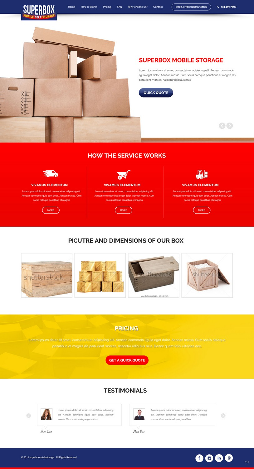 Playful, Colorful, Self Storage Web Design for a Company by pb ...