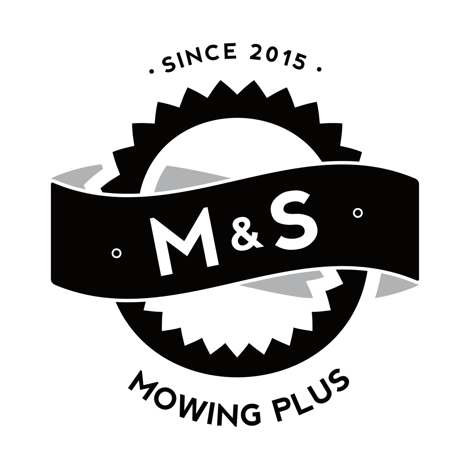 landscaping logo design for mampamps mowing plus by rana