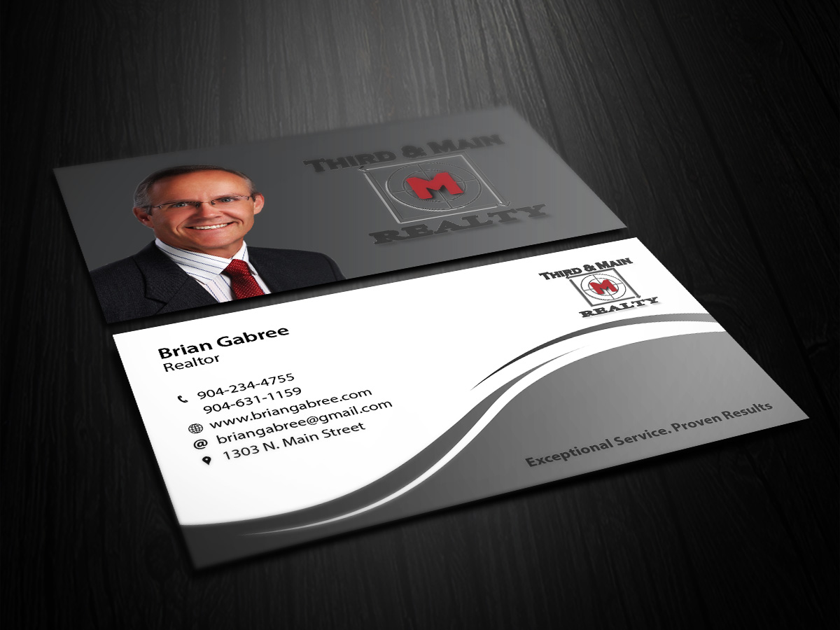 Professional Upmarket Real Estate Business Card Design For Third