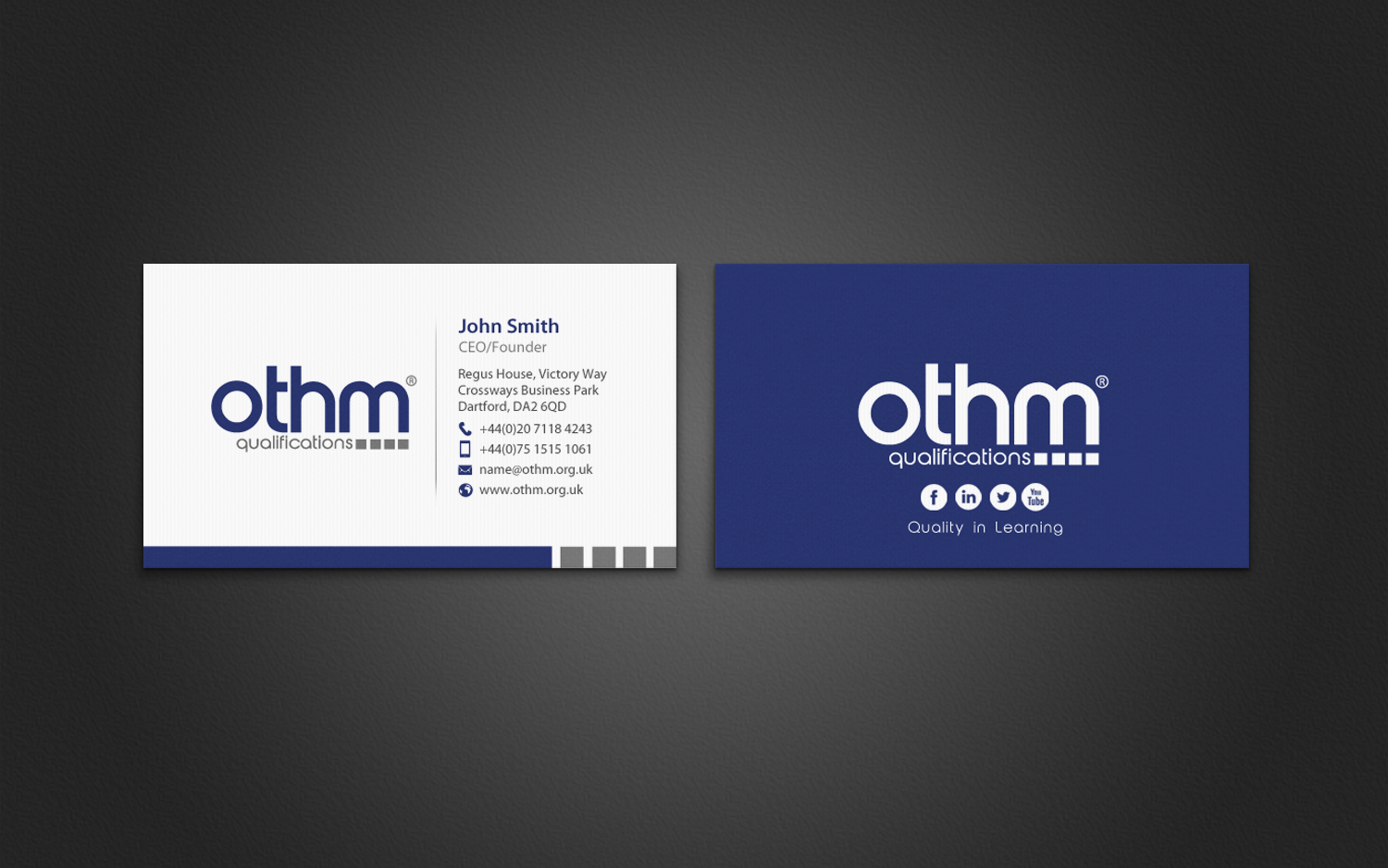 Serious, Professional, Education Business Card Design for THE ...