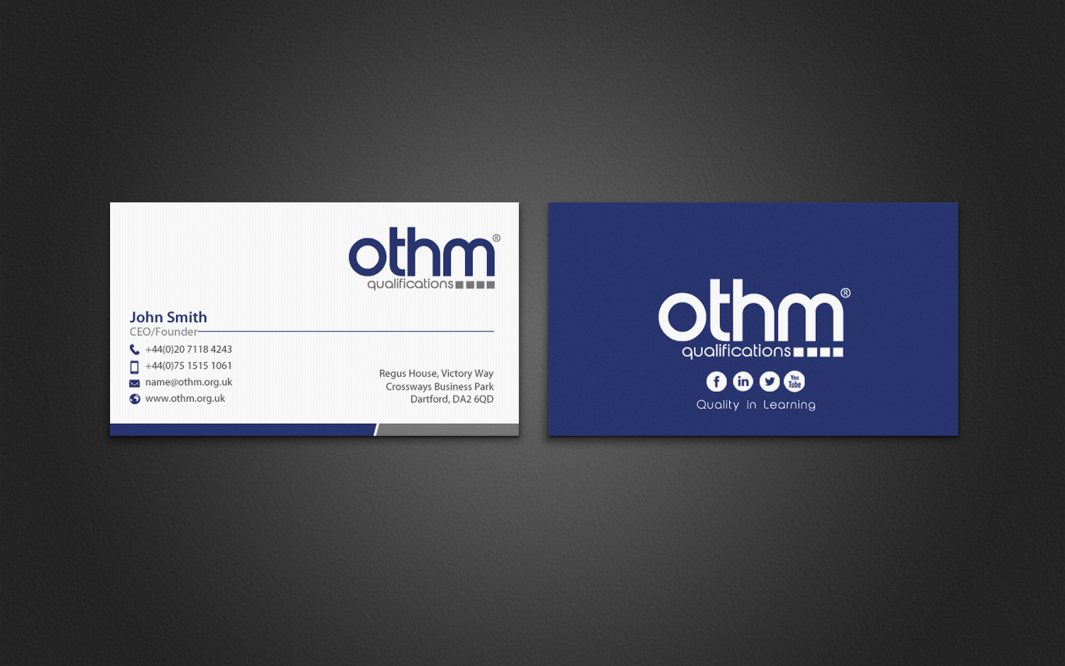 Serious professional education business card design for the business card design by chandrayaaneative for the organisation for tourism hospitality management reheart Choice Image