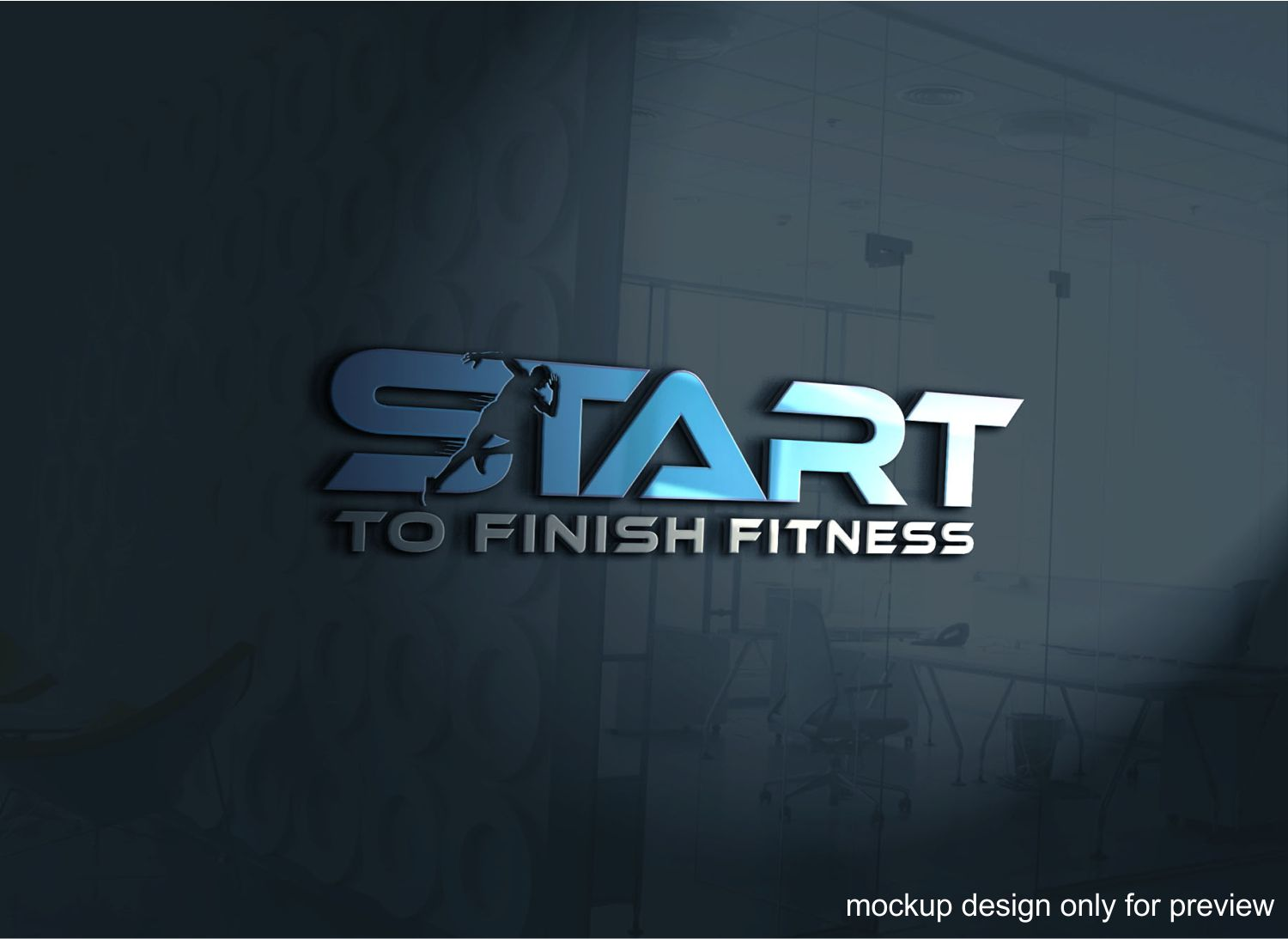 Serious Modern Logo Design For Start To Finish Fitness By