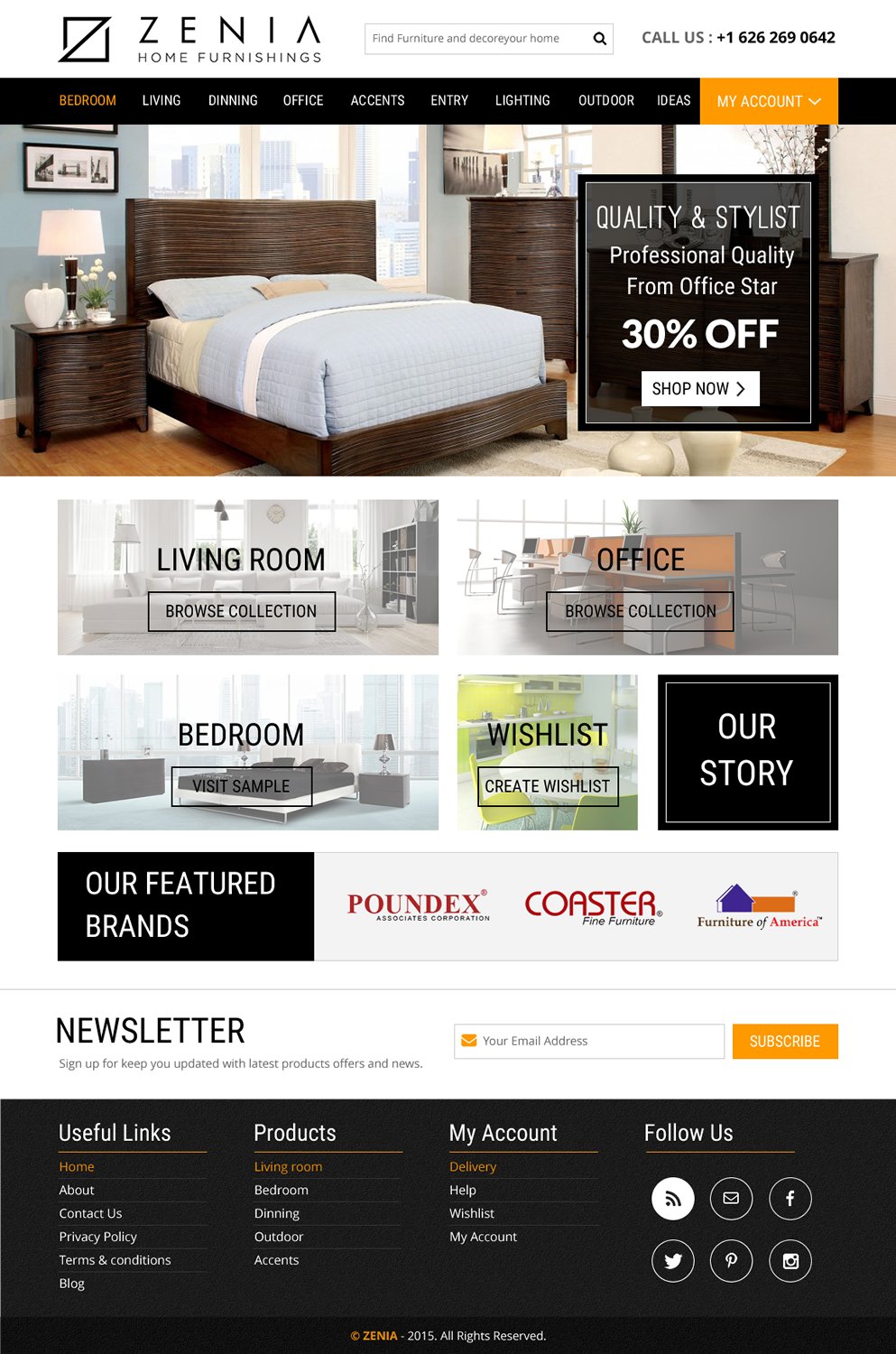 Playful, Professional, Furniture Web Design For JNC Brands Inc In United  States | Design 7829002