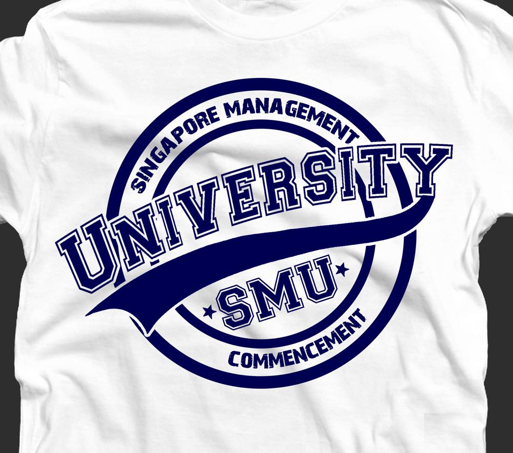 elegant playful t shirt design for singapore management