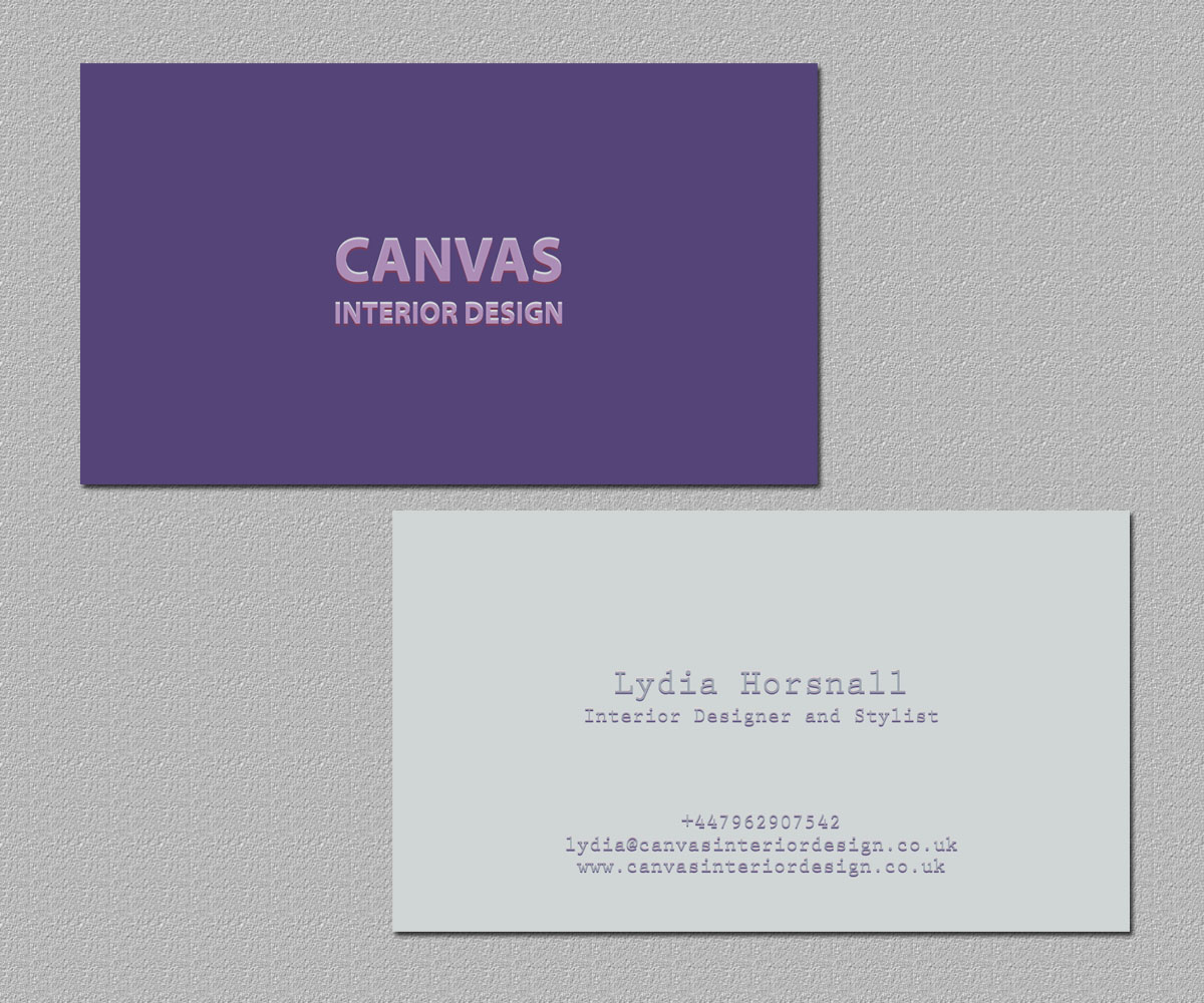 Fett Gehobenes Business Visitenkarten Design Für Canvas