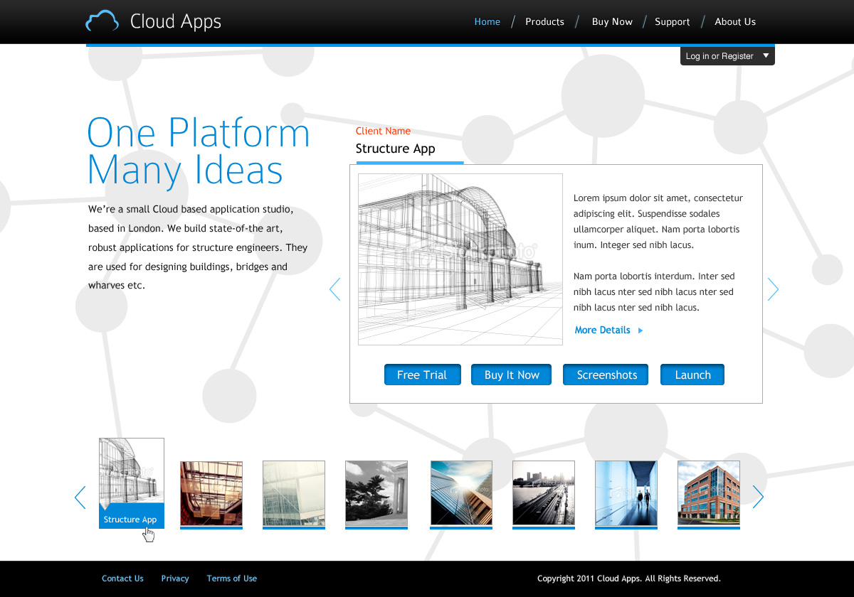 web design design 407615 submitted to homepage design for site providing cloud based