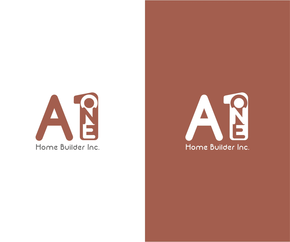 elegant playful logo design for a1 home builders by rakesh mohan