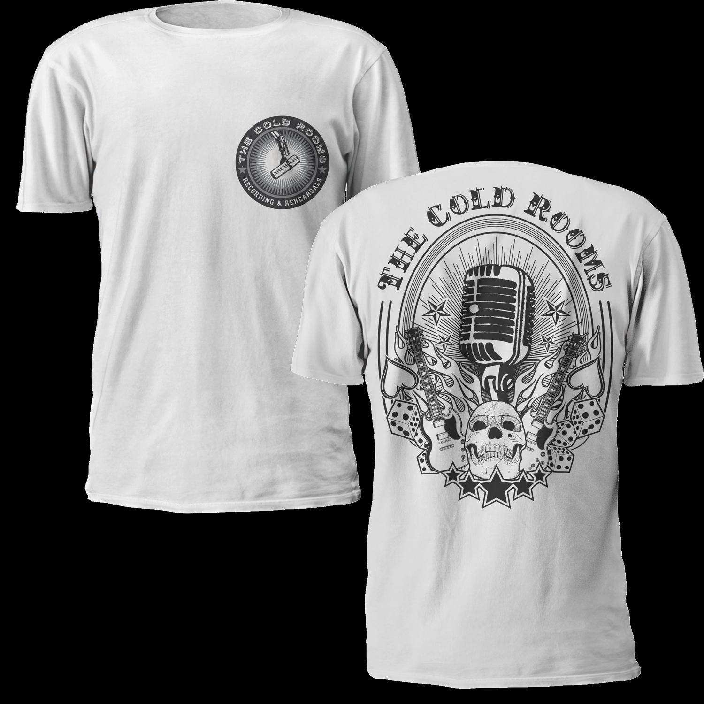 Bold modern t shirt design for jec audio ltd audiolease for Dc t shirt design