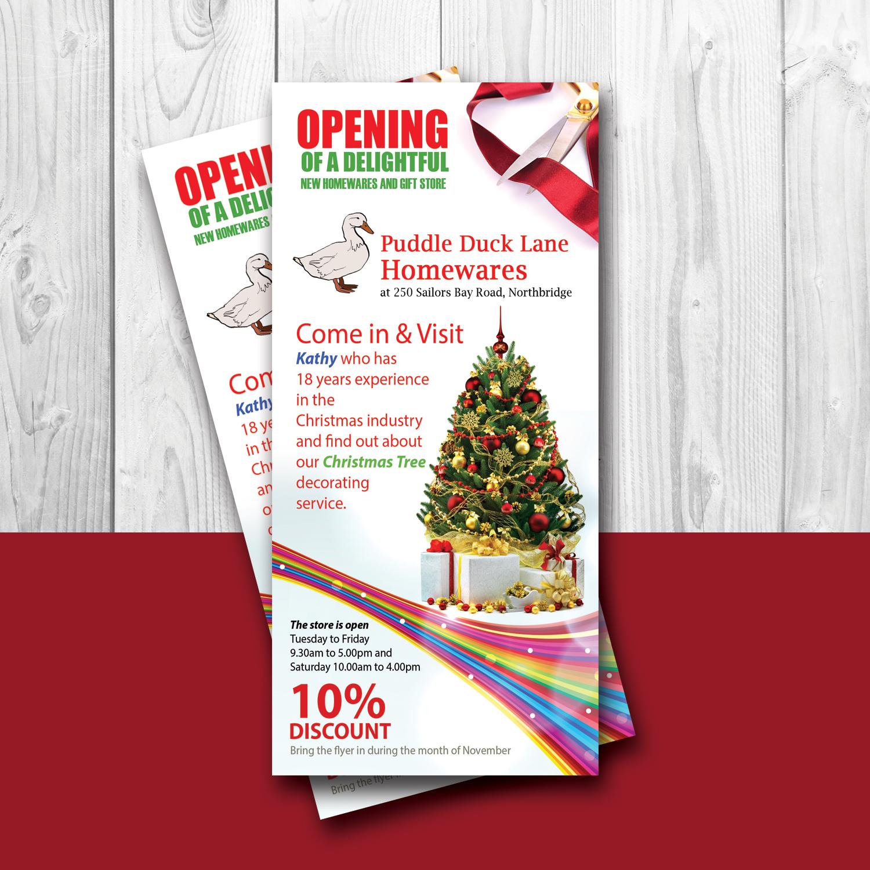Elegant, Upmarket, Store Flyer Design for Puddle Duck Lane Homewares ...