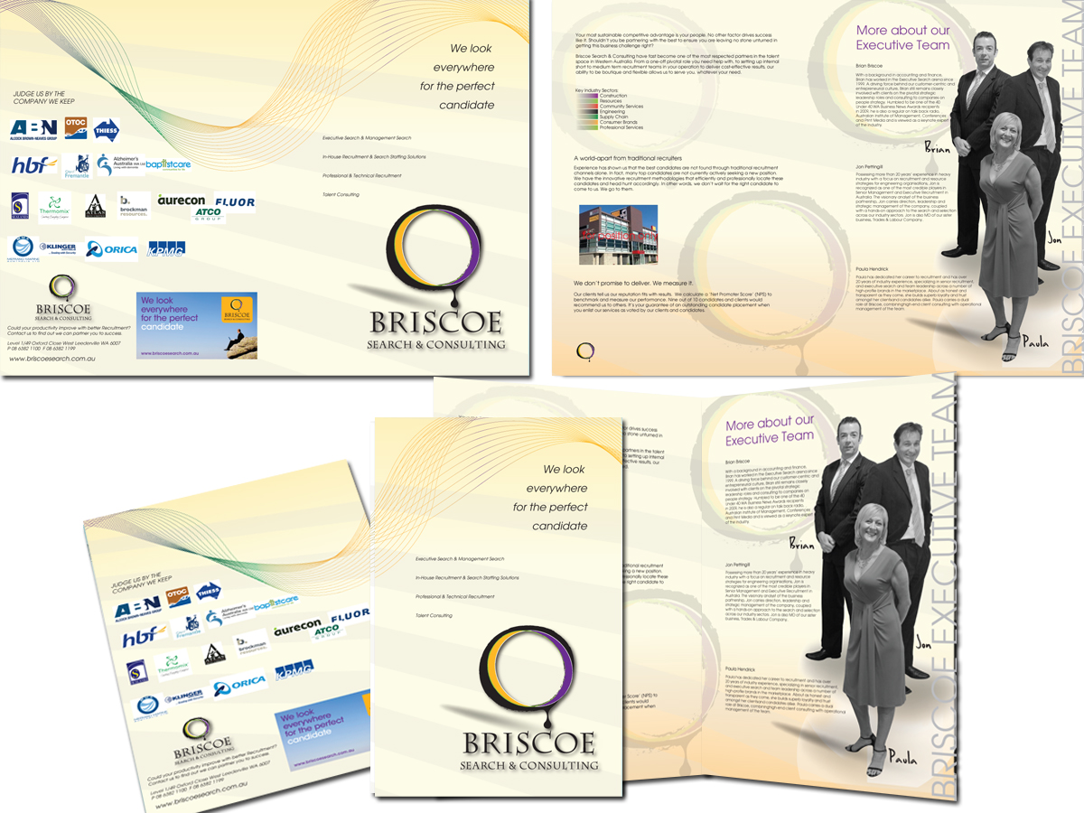 brochure design for boutiques - modern masculine boutique brochure design for briscoe