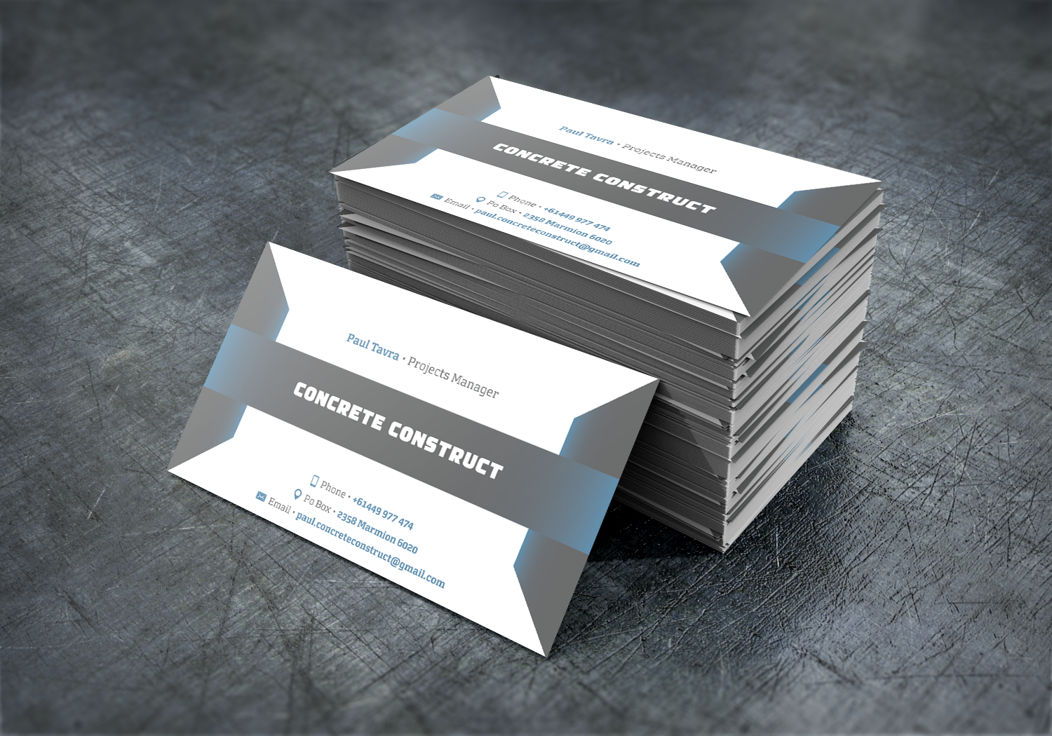 Business card design for paul tavra by tishert design 7817669 business card design by tishert for concrete construction design 7817669 magicingreecefo Image collections