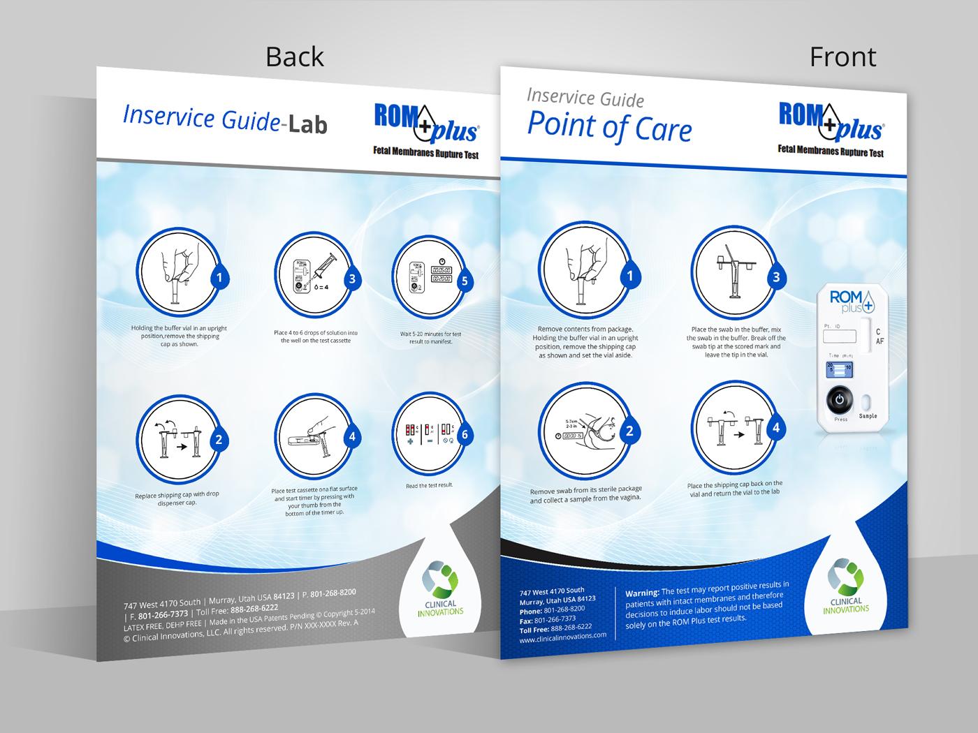 Modern professional medical equipment brochure design for Medical design firms