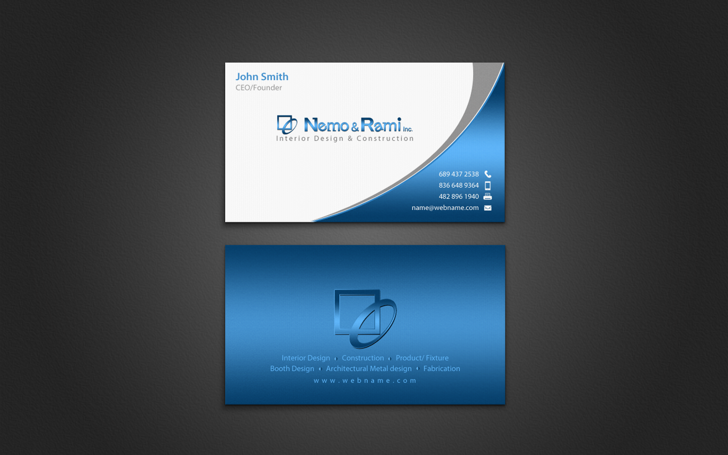 Professional Serious Business Business Card Design For