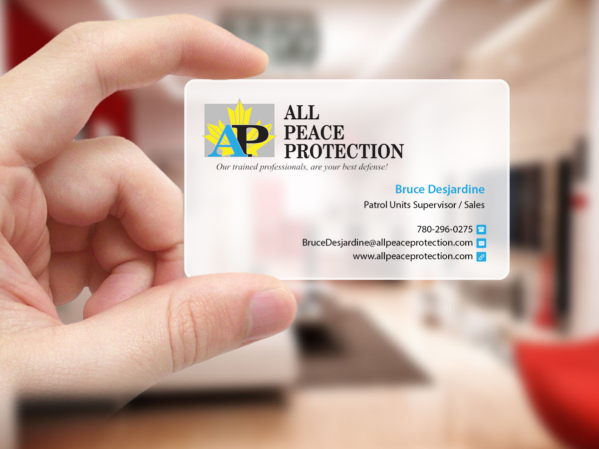 Professional Serious Security Business Card Design For All Peace