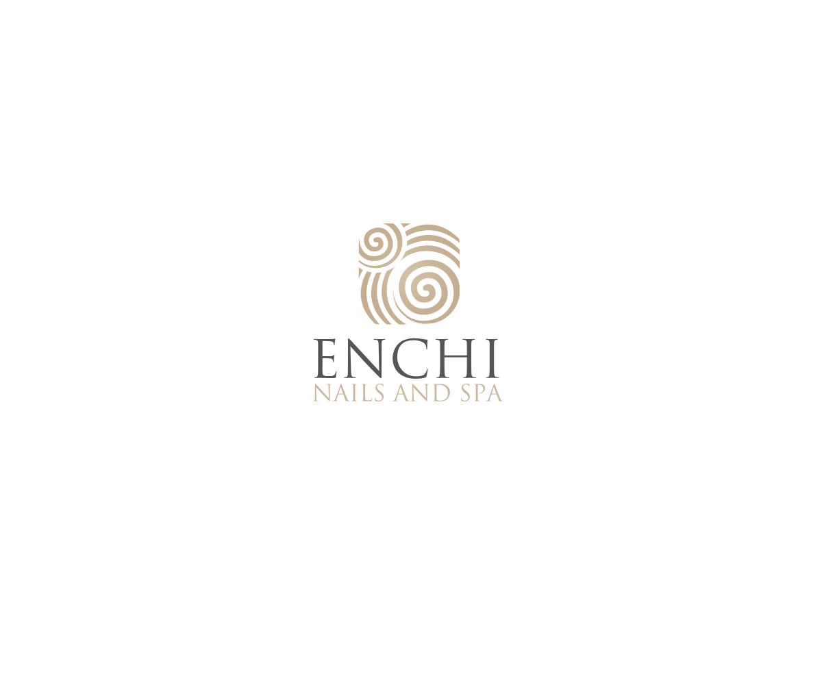 Modern Upmarket Health Service Logo Design For Enchi Nails And Spa