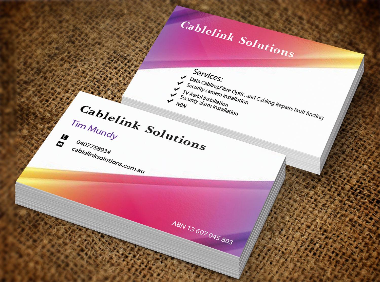 Business business card design for cablelink solutions by creation business business card design for cablelink solutions in australia design 7852865 reheart Images