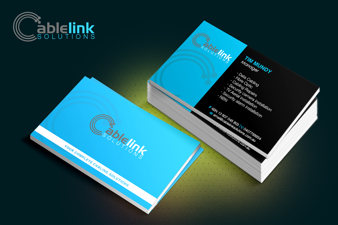 Business Card Design for Cablelink solutions by ® | Design #7849836