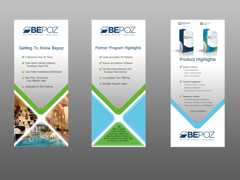 Serious, Modern, Software Poster Design for Bepoz America ...