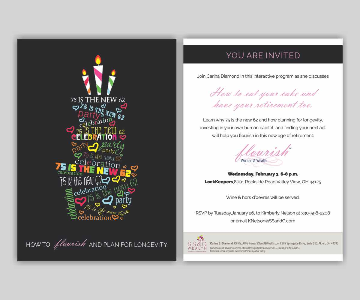 11 modern invitation designs financial service invitation design