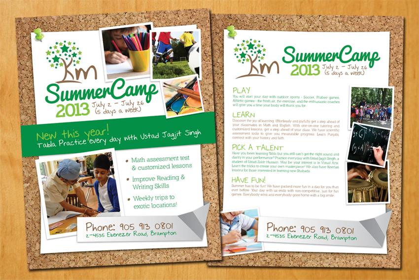 Summer Camp Flyer Sample Summer camp flyer design