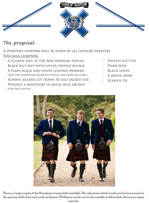 Flyer Design by Blackfire43 - Knox Debating Uniform - Double Sided A4 flyer -...