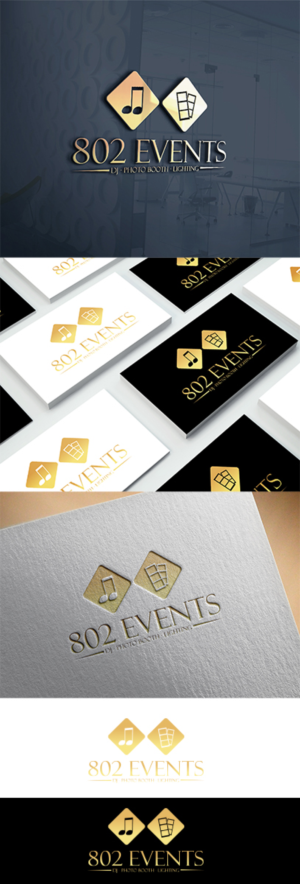 196 upmarket elegant entertainment logo designs for 802 events dj logo design design 7887258 submitted to 802 events dj photo booth reheart Image collections