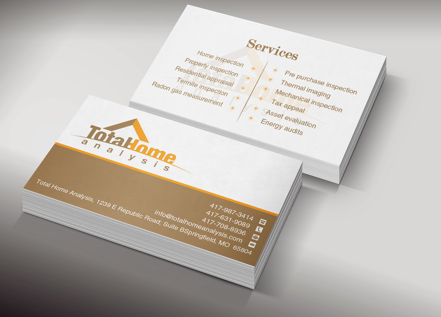 Business business card design for total home analysis by creation business business card design for total home analysis in united states design 7886162 colourmoves