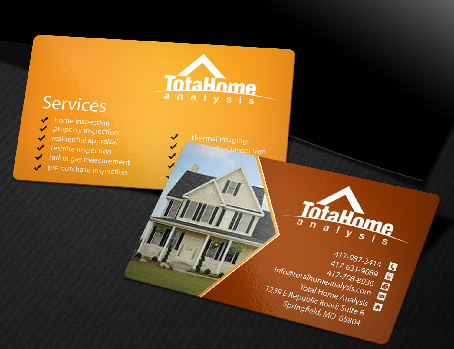 Business Business Card Design for Total Home Analysis by Creation ...
