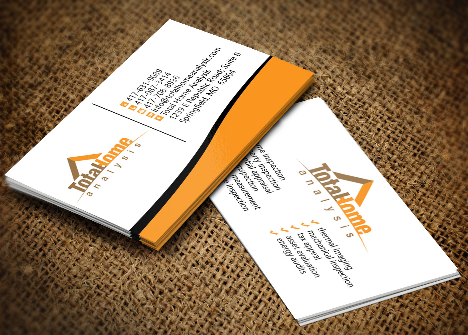 Business business card design for total home analysis by creation business business card design for total home analysis in united states design 7886174 colourmoves